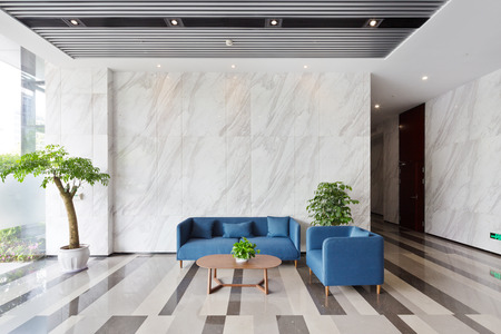 interior of modern lobby in office building Stock Photo