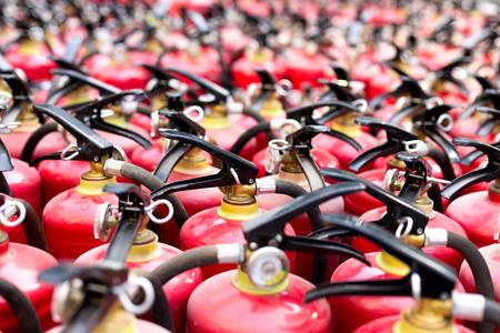extinguishing: group of fire extinguishers