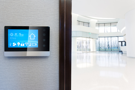 smart screen with smart home and modern hall