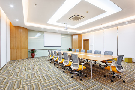 decoration and design of modern meeting room in modern company