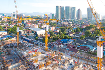 construction site in midtown of kuala lumpur