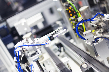 artificial intelligence equipment in modern factory Stock Photo