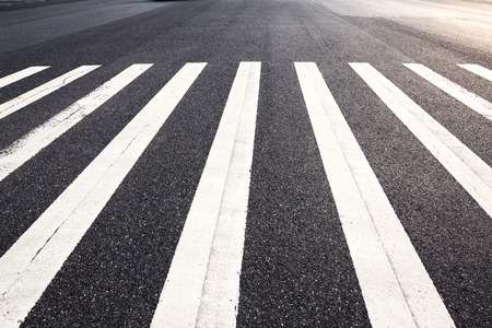 empty Zebra crossing