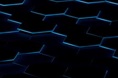 Hexagonal background. 3d background Stock Photo