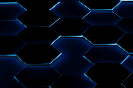 Hexagonal background. 3d background Stockfoto