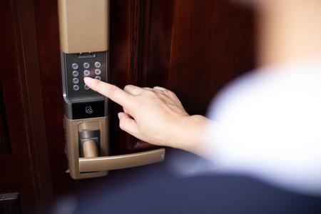 password lock at smart home