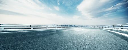 empty highway through modern city