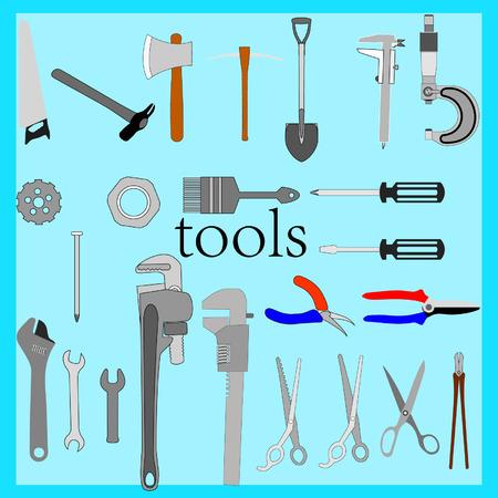 vernier: All kinds of tools Illustration