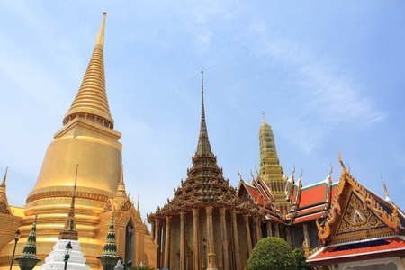 regarded: The Wat Phra Kaew is regarded as the most sacred Buddhist temple (wat) in Thailand Stock Photo
