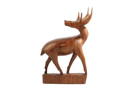 wood figurine: Ciervo de madera
