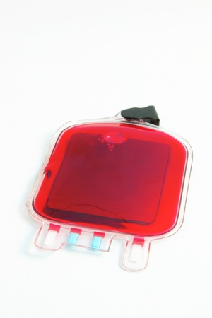 Blood bag on white bg photo