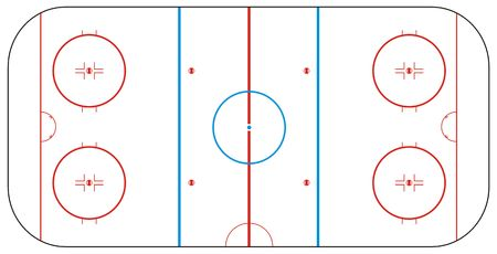 field hockey: Texture for ice hockey rink Stock Photo