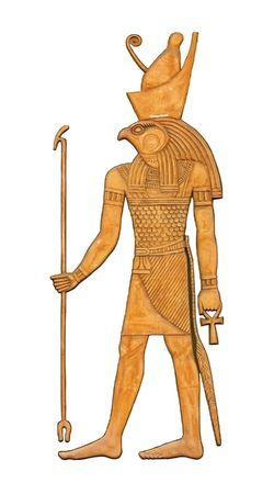 horus: El bajorrelieve de godness egipcio Horus