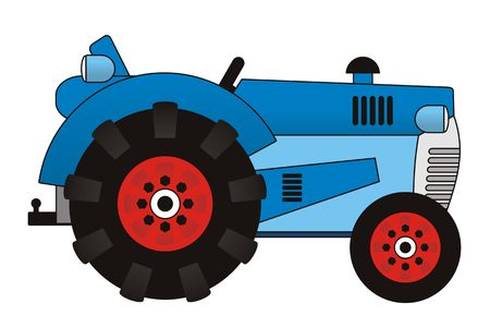 Illustration of a farm tractor illustration
