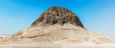 Egyptian pyramid of Senusret II near Fayoum town. photo
