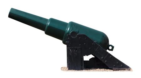 muzzle loading: British Rifled Muzzle Loader Cannon MarkIII isolated on white