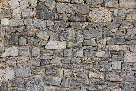 coquina: Village coquina stone wall background