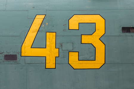 broadside: Number forty-three on a broadside of retro aircraft