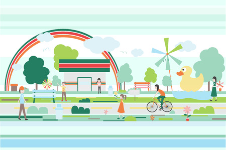 peaceful: peaceful green little town