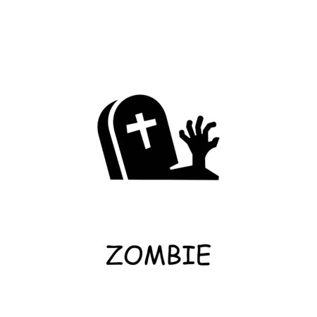 Zombie Hand flat vector icon. Hand drawn style design illustrations. Ilustração