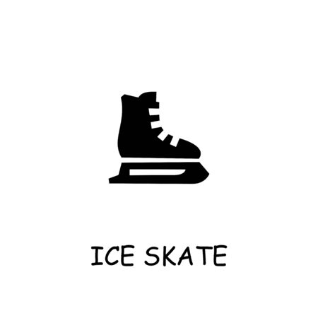 Ice Skate flat vector icon. Hand drawn style design illustrations.