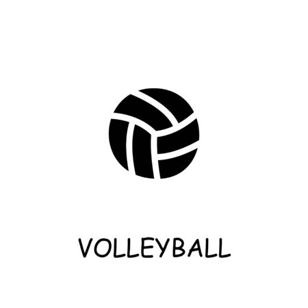 Voleyball flat vector icon. Hand drawn style design illustrations. 일러스트
