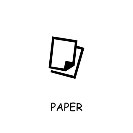 Paper flat vector icon. Hand drawn style design illustrations. Stockfoto - 142064651