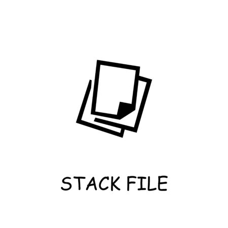 Stack File flat vector icon. Hand drawn style design illustrations. Stockfoto - 142064657