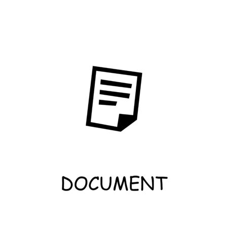 Document Paper flat vector icon. Hand drawn style design illustrations.