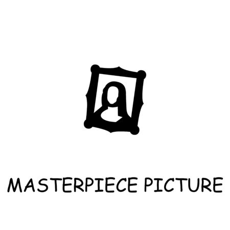 Masterpiece Picture flat vector icon. Hand drawn style design illustrations.