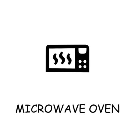 Microwave Oven flat vector icon. Hand drawn style design illustrations.