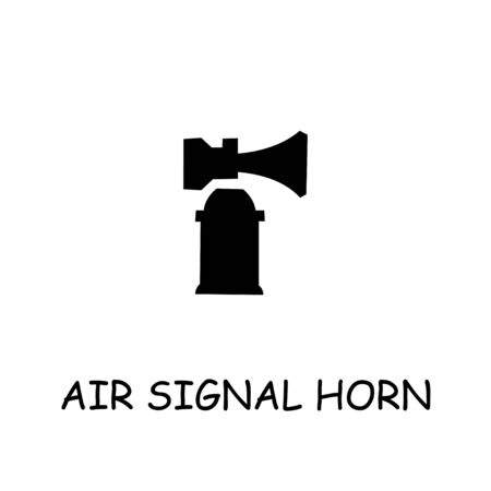 Air Signal Horn flat vector icon. Hand drawn style design illustrations. Иллюстрация