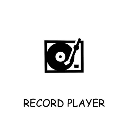 Record Player flat vector icon. Hand drawn style design illustrations.