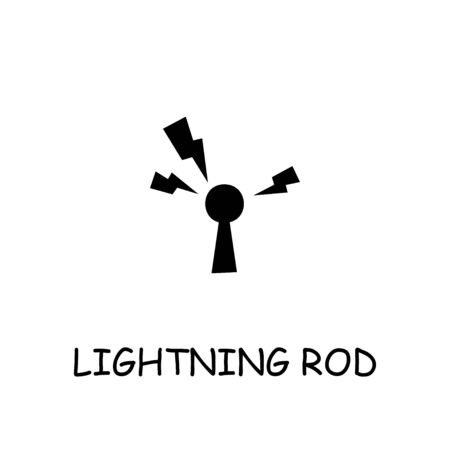 Lightning Rod flat vector icon. Hand drawn style design illustrations.