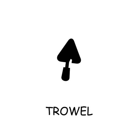 Trowel flat vector icon. Hand drawn style design illustrations.