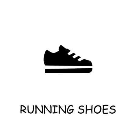 Running shoes flat vector icon. Hand drawn style design illustrations.
