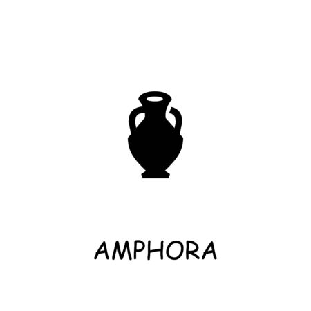 Amphora flat vector icon. Hand drawn style design illustrations.