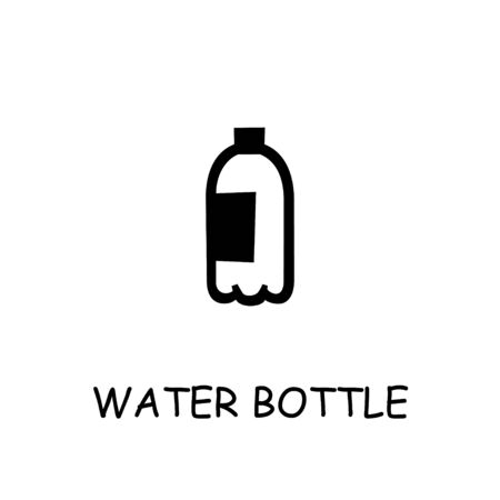 Water bottle flat vector icon. Hand drawn style design illustrations.