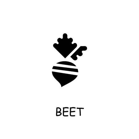 Beet flat vector icon. Hand drawn style design illustrations. Vecteurs