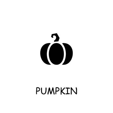 Pumpkin flat vector icon. Hand drawn style design illustrations.