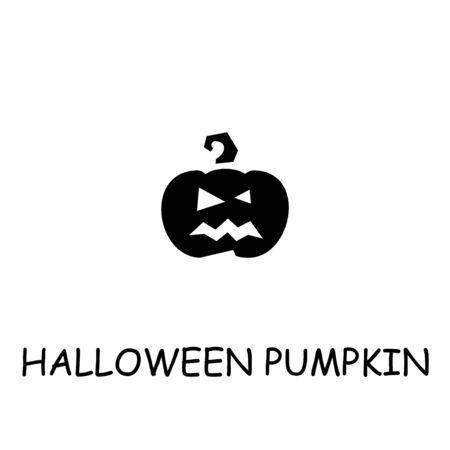Halloween pumpkin flat vector icon. Hand drawn style design illustrations.