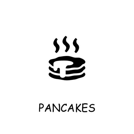 Pancakes flat vector icon. Hand drawn style design illustrations.