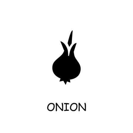 Onion flat vector icon. Hand drawn style design illustrations.