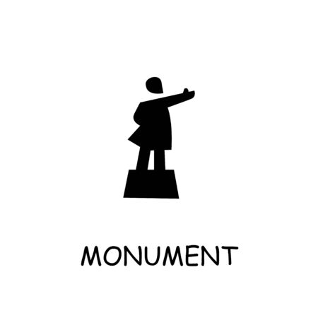 Lenin monument flat vector icon. Hand drawn style design illustrations.
