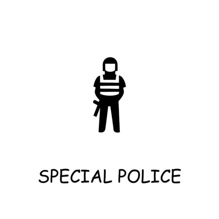 Special police flat vector icon. Hand drawn style design illustrations.