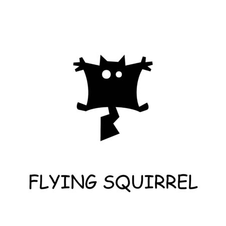 Flying squirrel flat vector icon. Hand drawn style design illustrations.