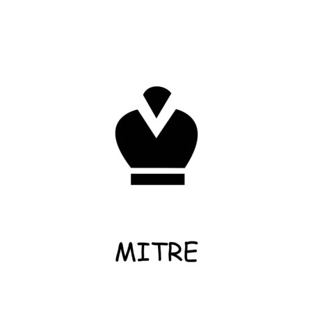 Mitre flat vector icon. Hand drawn style design illustrations.