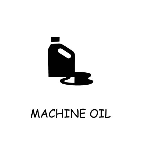 Machine oil flat vector icon. Hand drawn style design illustrations. Vectores