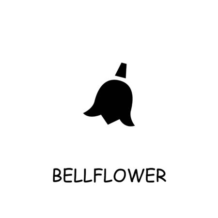 Bell flower flat icon. Hand drawn style design illustrations.