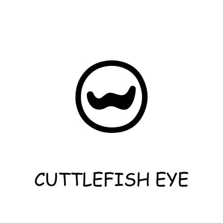 Cuttlefish Eye flat vector icon. Hand drawn style design illustrations. 向量圖像